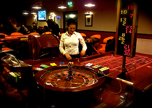 Roulette tafel in casino