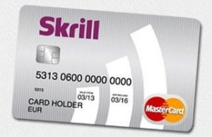 Skrill Moneybookers card