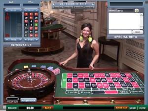 Live dealer roulette 500